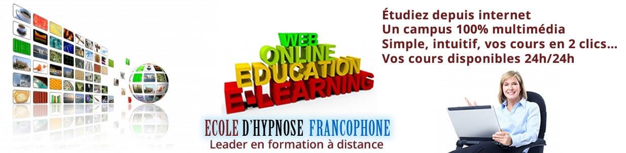 école hypnose francophone formation hypnotherapeute