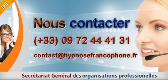 Contacter l'EHF Le secrétariat de l'École d'Hypnose Francophone