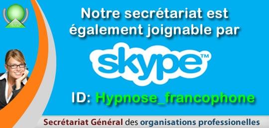 Appelez le secrétariat de Contacter l'EHF Le secrétariat de l'École d'Hypnose Francophone par Skype